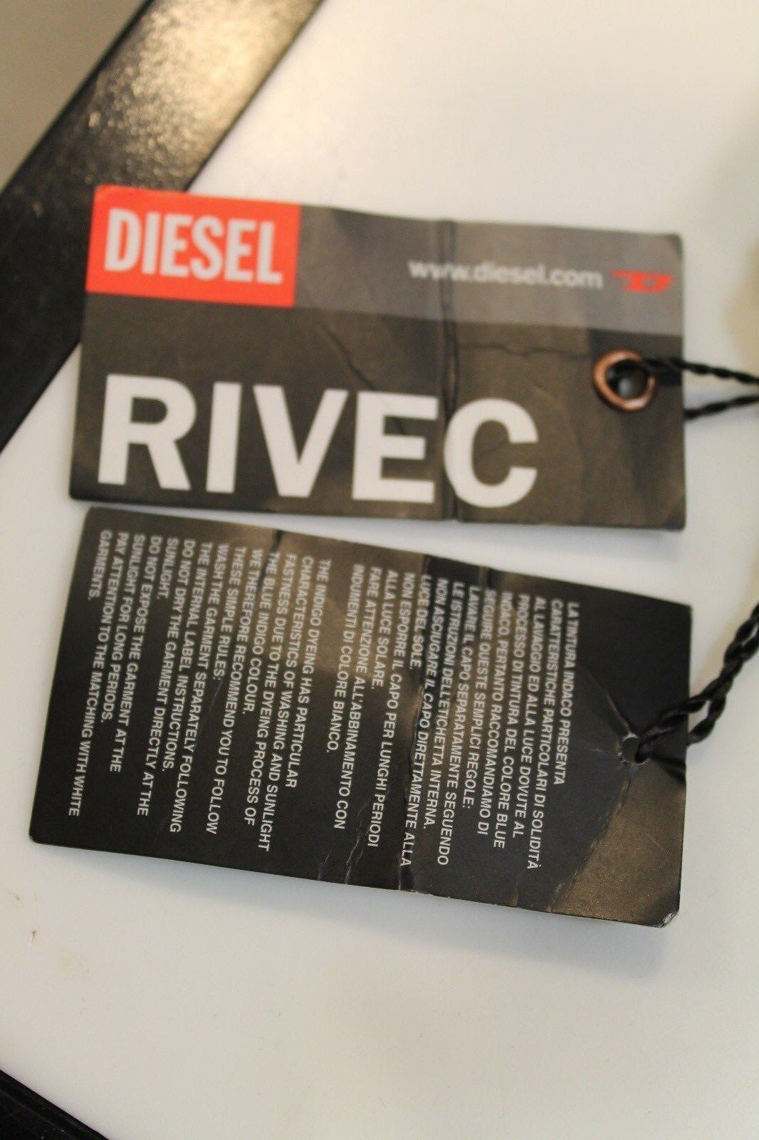 Diesel Jeans RIVEC dark stone neu Straight Leg 100% Baumwolle bequemer Schnitt  | Abgabepreis  | Sonderangebot  | Neuankömmling