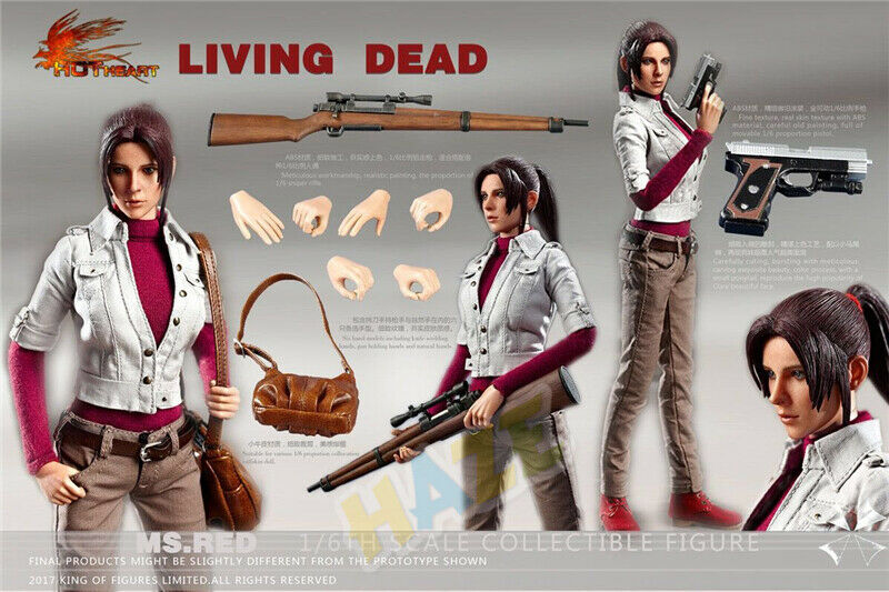 Corazón Resident Evil Degeneración Claire rojofield 1 6 Escala Figura de Acción Juguete Nuevo