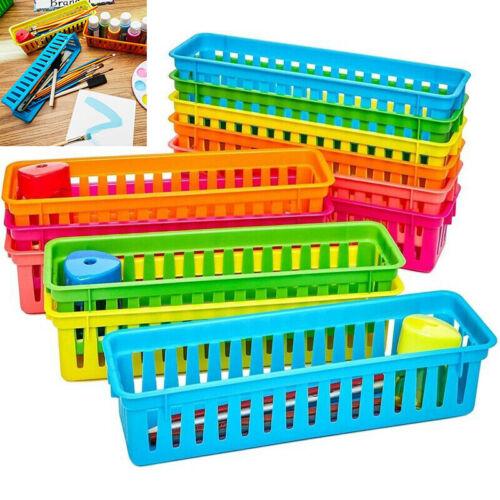 12pcs Classroom Desk Pen /& Pencil Stationery Storage Basket Organizer Tray Kit