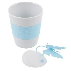 Gobelet-butterfly-Porzellan-Silikon-13x11x9cm-Blanc-Bleu-Tee-Tasse-Design