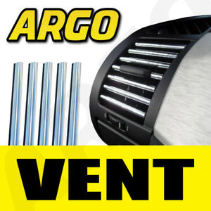 CHROME-EFFECT-AIR-VENT-STYLING-STRIP-TRIM-KIT-GRILLE-MOULDING-FINISH-SILVER-X-5
