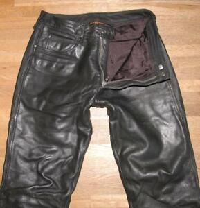 """"""" REVENGER """" Herren- LEDERJEANS / Biker- Lederhose in schwarz ca. W33"""" /L30"""""""