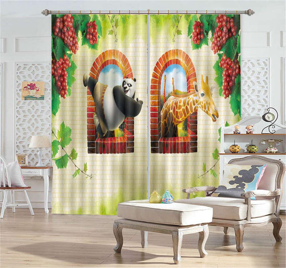 Coraggioso Kung Fu Panda 3D Tenda Bloccare Foto Stampa Tendaggio Drappo Tessuto