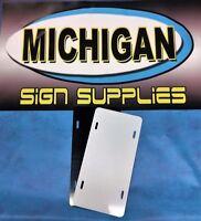 5 Pack Of White/black .040 Aluminum License Plate Blanks