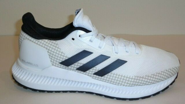 Adidas Size 8 SOLAR BLAZE White Grey Running Sneakers New Mens Shoes