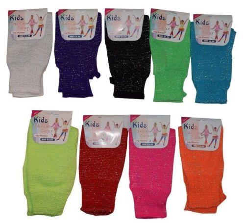 Girls Kids Glitter Lurex Children Fancy Dance Gear Leg Warmer Party School