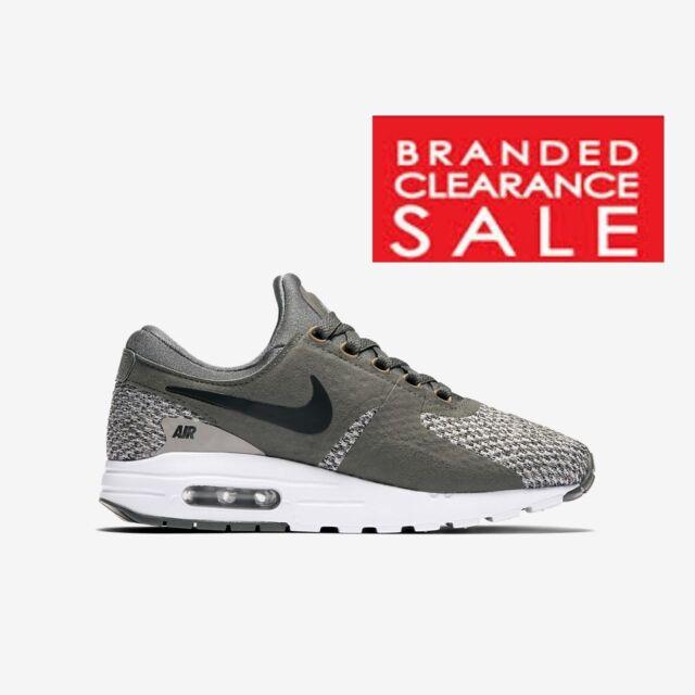 separation shoes ff557 48003 Boys Nike Air Max Zero SE GS Trainer Green Cobblestone Size 6 UK