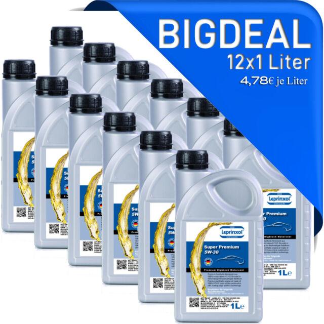 (4,78€/L) 12x 1 Liter 5W-30Motoröl PSA für Citroën, Peugeot und Mercedes, Ford