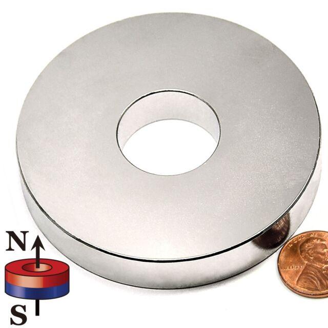 "1 Piece N42 3""ODx1""IDx.5""H NdFeB Neodymium Ring Magnet"