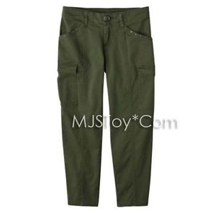 NWT-Disney-The-Alex-Russo-Collection-D-Signed-Skinny-Cargo-Dark-Olive-Pants