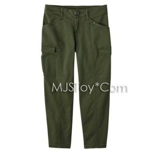 NWT Disney The Alex Russo Collection D-Signed Skinny Cargo Dark Olive Pants