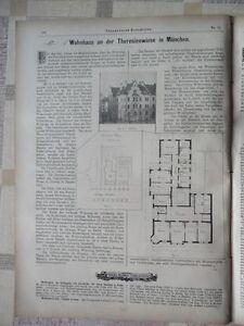 1897 Habitation à La Représentant à Munich-afficher Le Titre D'origine