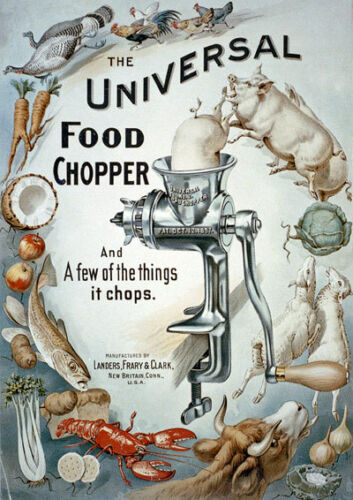 AD34 Vintage Universal Food Chopper Advertising Poster A4 Re-print