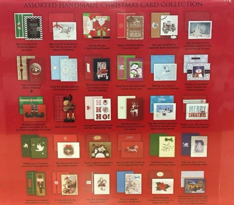 Burgoyne 30 Assorted Hand Crafted Christmas Cards With Matching Self ...
