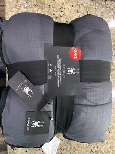 "Spyder Comforter 102/""x90/"" King Down Alternative Moisture Wicking Blanket Blue"