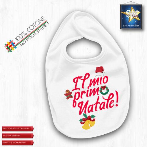 Bavaglino bimba bimbo il primo natale regalo bebè primo IDEA REGALO alta qualità