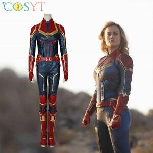 Captain Marvel Carol Danvers Cosplay Costume Leather Halloween Full Suit Lot Ebay Mijn ebay mijn ebay uitvouwen. ebay
