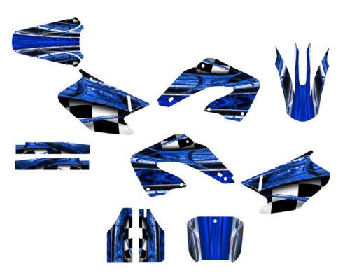 2000 2001 CR 125 250 Graphics CR125R CR250R deco kit #2001 Blue