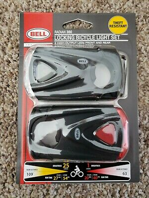 bright! front and back Bell Sports Meteor 550  2 LED Headlight//Taillight Set-
