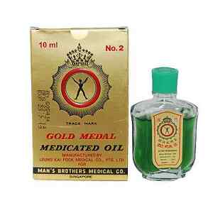 Gold Medal Medicated Oil 10ml For Cough, Cold, Headache, Muscle Pain, ache