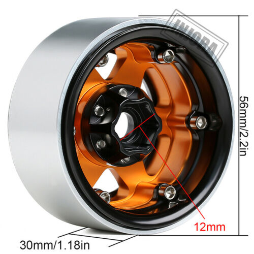 "1.9/"" Metal Beadlock Wheel for 1//10 RC Axial SCX10 90046 AXI03007 TRX4 RedCat MST"