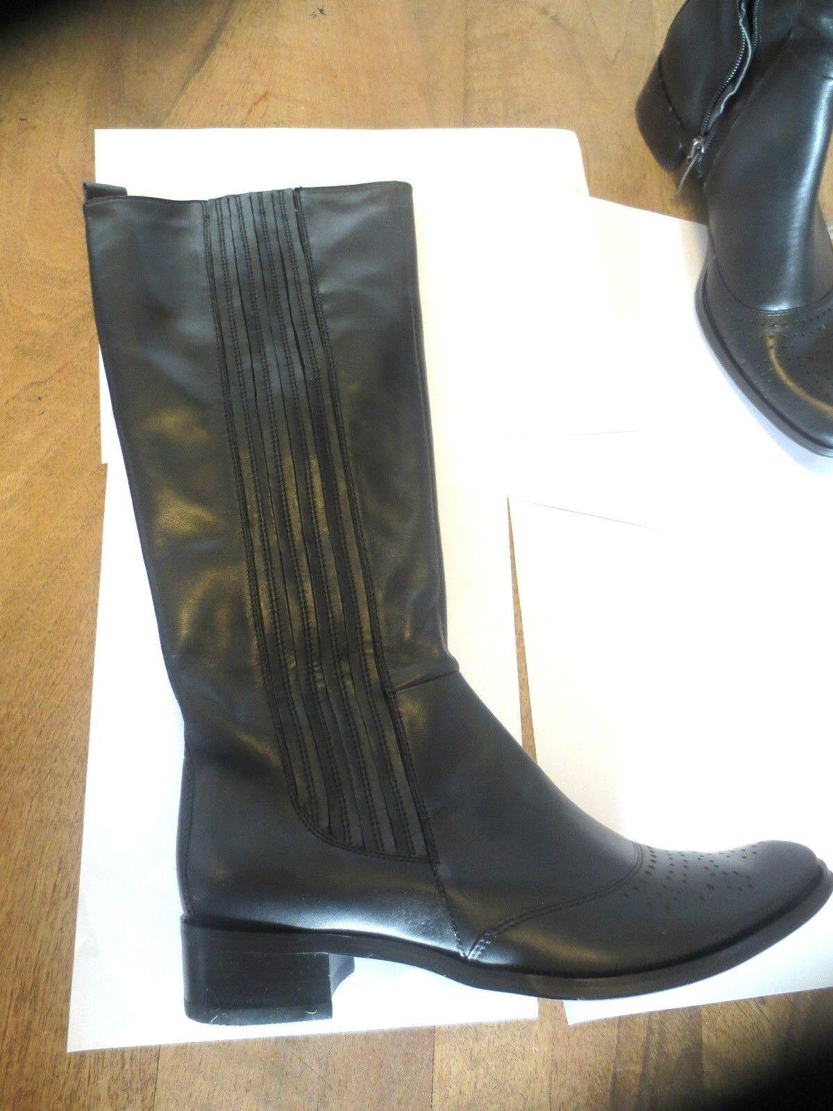 Bocage Botte cuir black black black NEUVE Val 199E Pointures 36, 4a191f