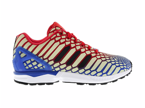 9eb6c850d ADIDAS Mens ZX Flux Xeno Reflective Glow Running Shoes Blue Red ...