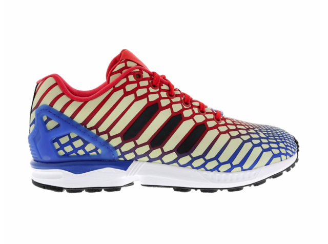 ADIDAS Mens ZX Flux Xeno Reflective Glow Running Shoes Blue Red AQ4533  Men s 10 d70b0fd09