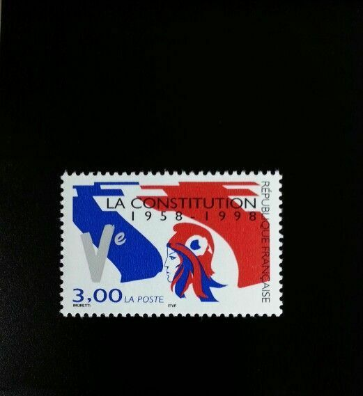 1998 France 5th Republic, 40th Anniversary Scott 2677 M