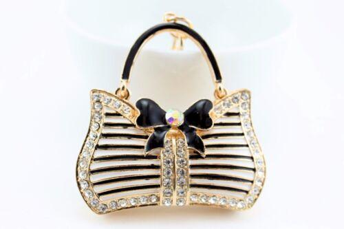 Purse Bag Fashion Keychain Crystal Charm Cute Gift Bag Pouch Collectible E34