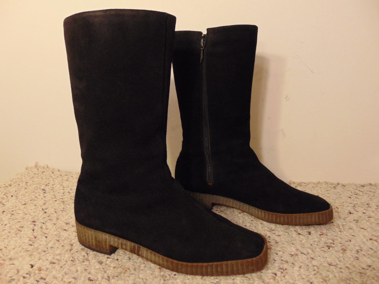 BALLY Women's black Suede Side Zip Snow Snow Snow Winter Fur Lining size 37 ca6657