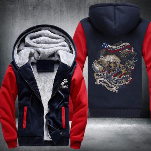 Marine corps print coat man sweatshirt autumn winter thick hoodies US SIZE S-5XL