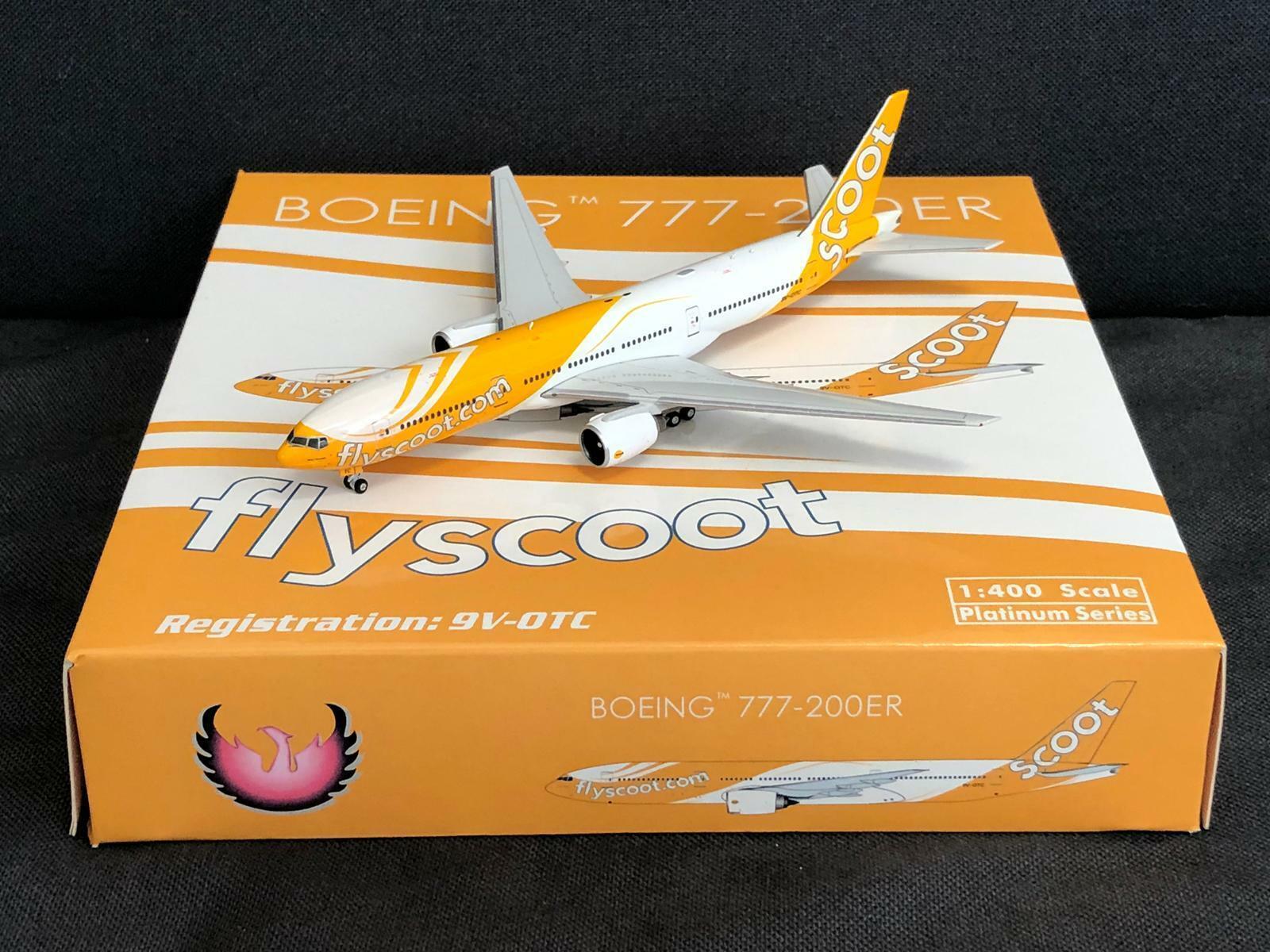 RARE SCOOT Boeing 777-200 9V-OTC Phoenix 1 400 Diecast  Models  trouvez votre favori ici