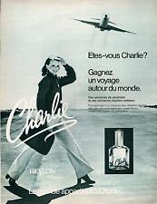 ▬► PUBLICITE ADVERTISING PAFUM PERFUME Charlie REVLON 1978