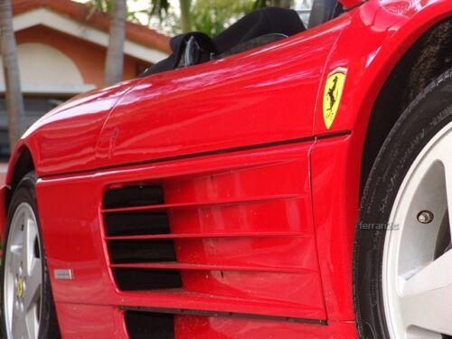 New Ferrari 348 Genuine Emblem Fender Badge Sticker Shield Decal Resin Coated