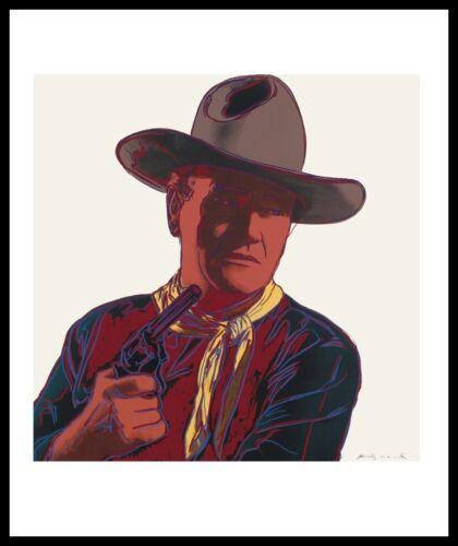Andy Warhol Cowboys Indianer John Wayne Poster Kunstdruck im Alu Rahmen 36x28cm