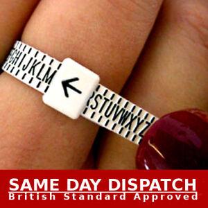 Ring sizer UK Official British Finger Measure Gauge Men and Women Genuine NEW 620447586921