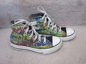 6f680fdeb3e1 Converse All Star Chuck Taylor 50s Sci Fi Horror Flick Shoes Kids ...