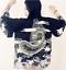 NUEVO-8-10-Mujer-Chino-Japones-Oriental-Kimono-Estilo-Negro-Dragon-TOP