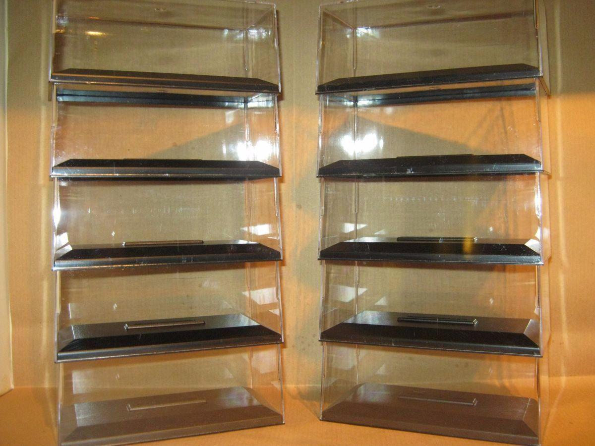 1 43 Display Cases, Suit - Model cars, Corgi, Cararama, Minchamps, Autoart, etc