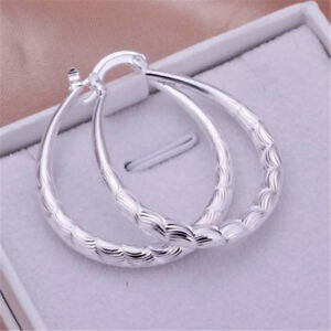 Beautiful-Fashion-Silver-925-Cute-Women-Wedding-Party-U-Earring-Lady-Jewelry-Hot