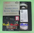 VHS Claudio Monteverdi VESPRO DELLA BEATA VERGINE Gardiner (CL3) no cd dvd lp