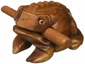 """little wood frog rasp around 4"""" long from thailand factory"""