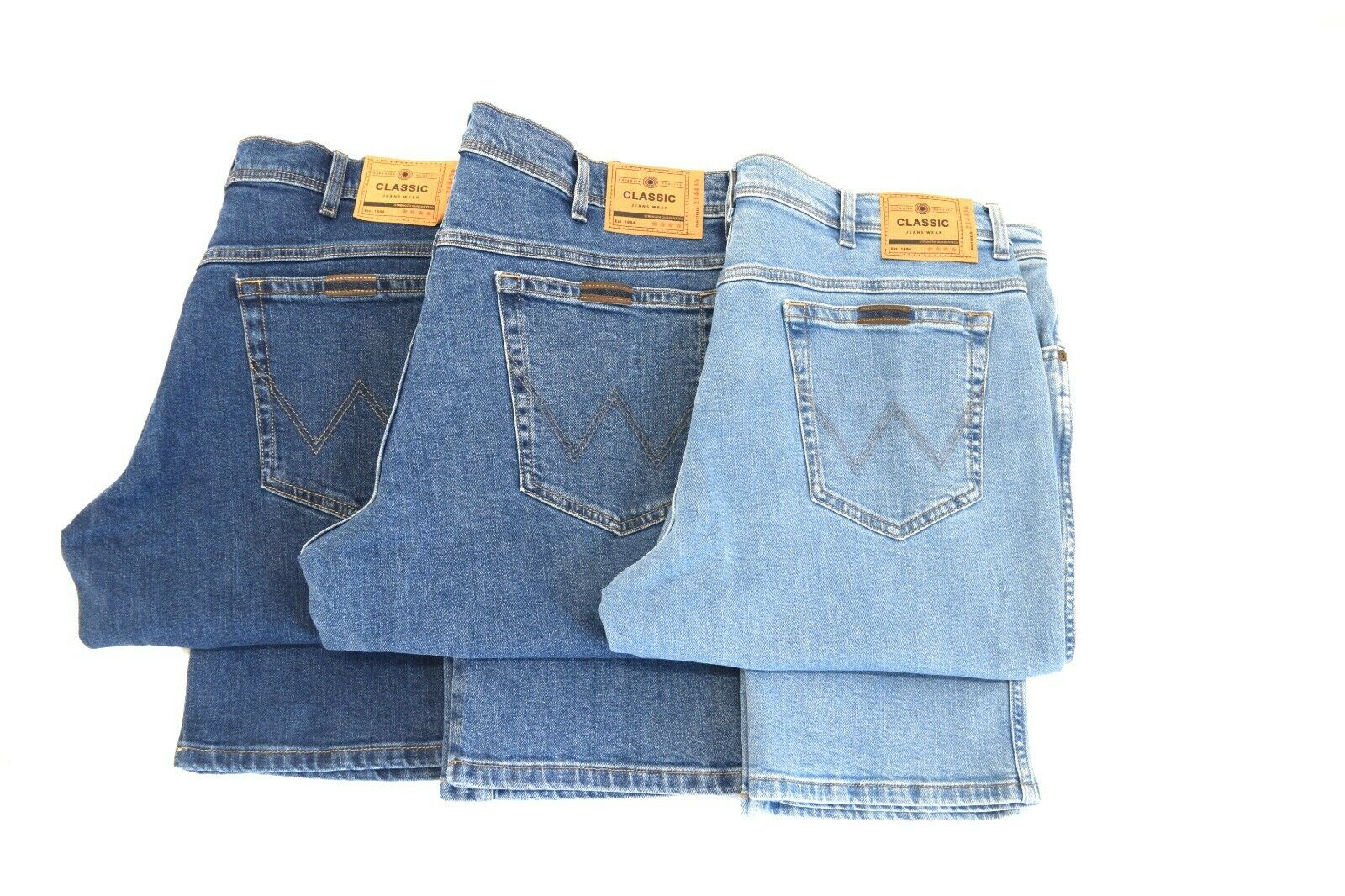 Mens Wrangler Texas stretch durable regular fit jeans FACTORY SECONDS WA32
