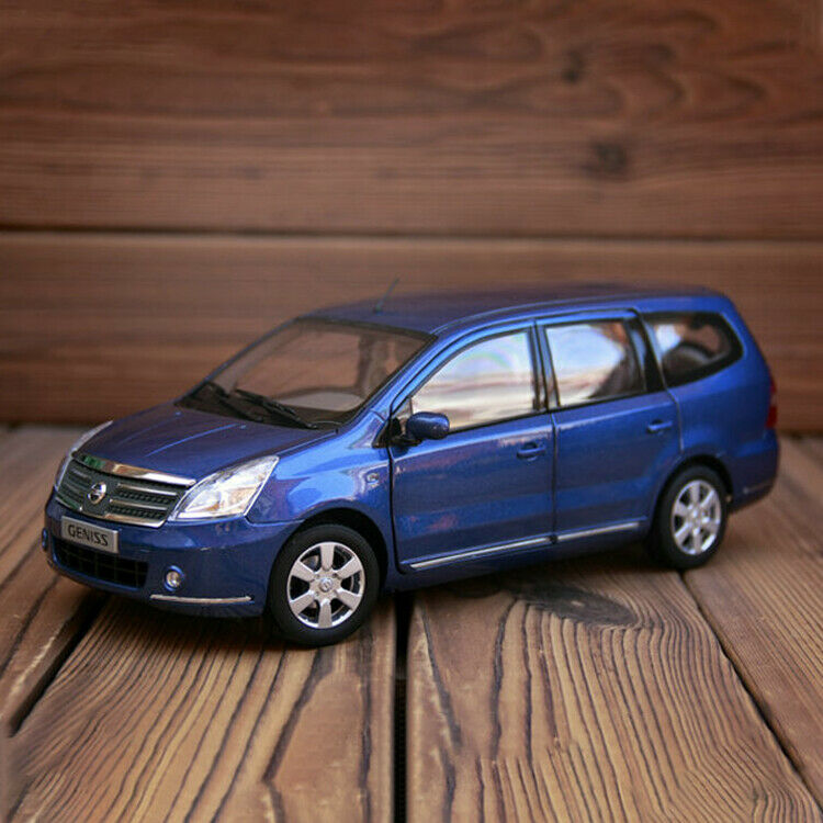 Original 1 18 Dongfeng Nissan GENISS MPV bluee Alloy finale Car model collection