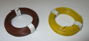 1m-Copper-Wire-Hook-Up-0-5mm-2-Rings-A-10-Meter-New
