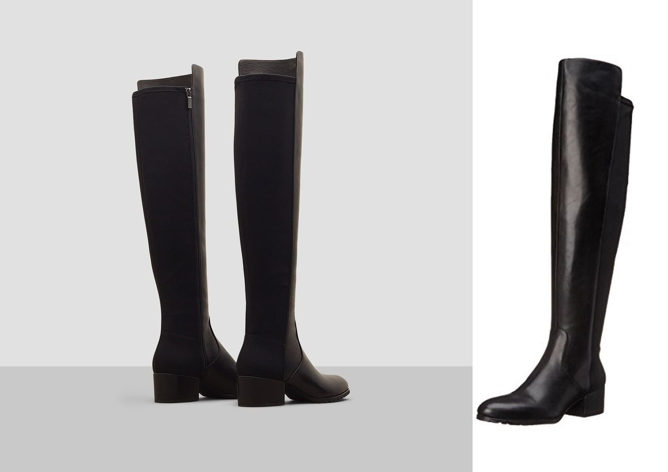 Kenneth Cole Women's Boots Felix Riding Black Leather Knee High Boots