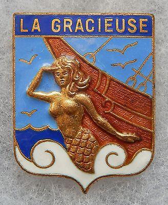 INSIGNE DE LA MARINE - La GRACIEUSE - Aviso Dragueur