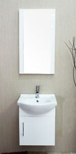 Naples Single Sink Wall Mount Bathroom Vanity White