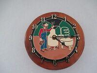 Handmade In Vermont Decorative Making Moonshine Pine Wall Clock Battery Bx17